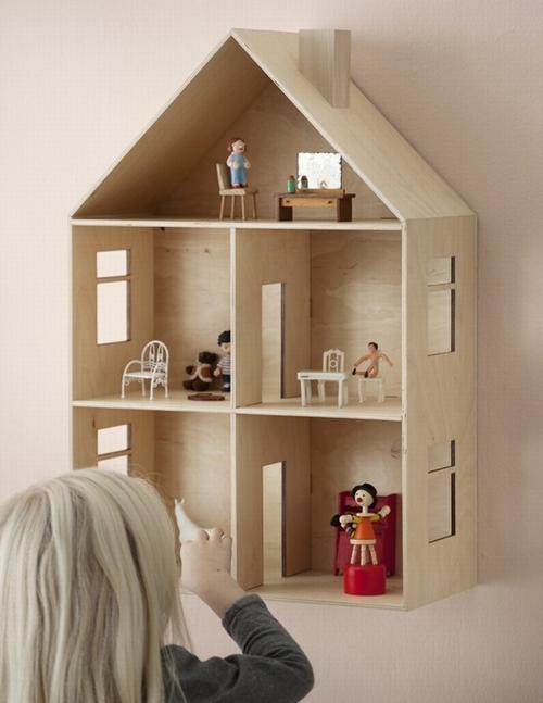 decorar casa de muñecas Decora con papel pintado su casita de muñecas