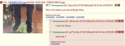 Empleado de Burger King despedido tras subir fotos a 4Chan