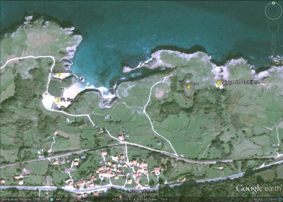Mapa Playa del Cobijero o Acacias