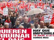 Lista manifestaciones julio contra recortes económicos sociales gobierno