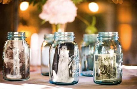 Pon fotos vintage en tu boda