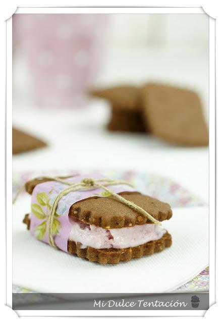 Mini Sandwiches de Yolado de Frutas del Bosque
