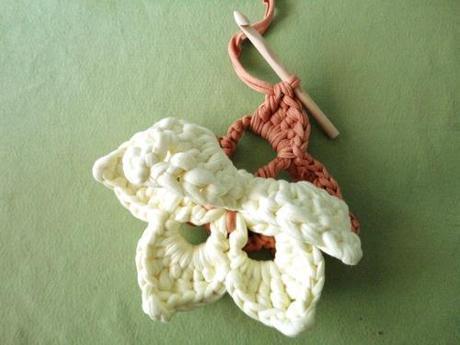 manualidades y labores ganchillo flor de 5 petalos