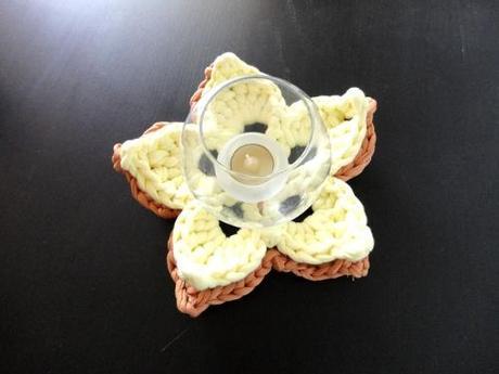 Tutorial DIY como hacer flor de ganchillo o crochet con trapillo