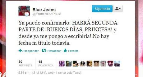 Blue Jeans confirma la segunda parte de ¡Buenos días, Princesa!