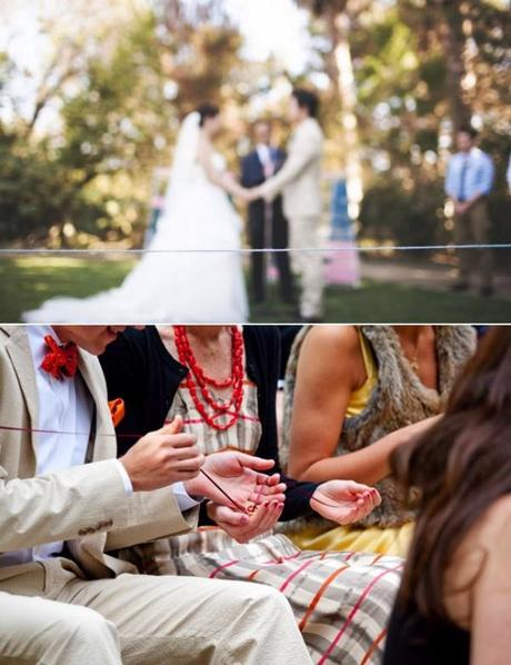 Calentando los anillos en la ceremonia-ring warming ceremony