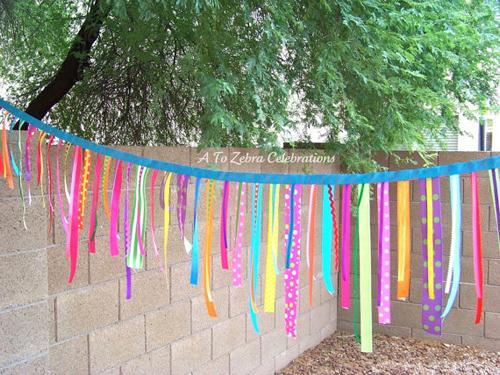 Ideas etsy: Guirnaldas de cintas