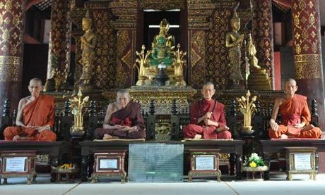 Monjes disecados Wat Phra Sing Wat Phra Singh