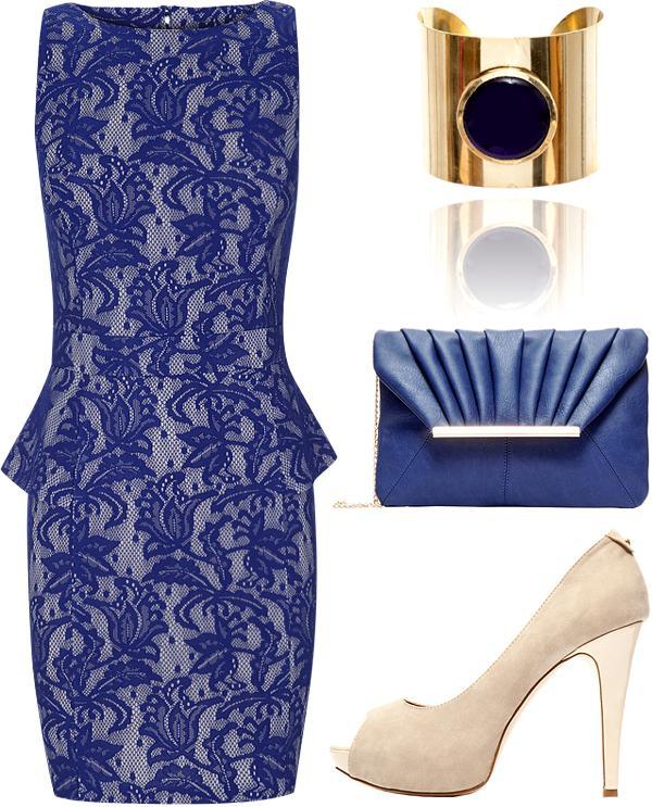 Vestidos de blonda en azul