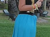 Maxi skirt turquoise