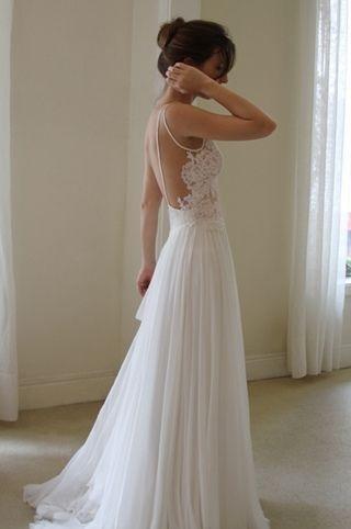 la magia del escote en la espalda para tu vestido de novia - paperblog