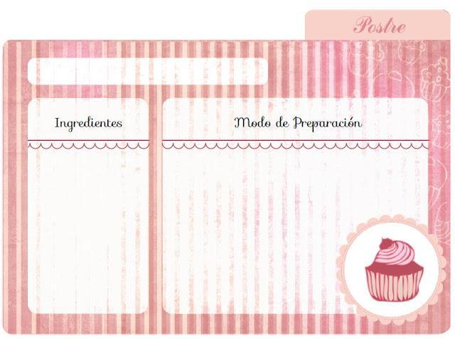 Imprimibles by srta edwina 4 para las recetas de la for La cocina dela abuela paca