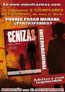 Concurso INTERNACIONAL   Gana un ejemplar de Cenizas, de Ilsa J. Bick, gracias a Nocturna Ediciones y Mientras Lees