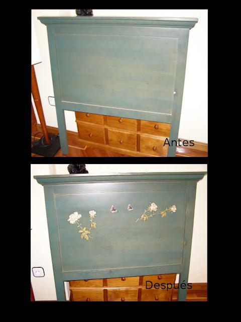 Antes y despu s del cabecero de madera de mar paperblog for Reto muebles segunda mano