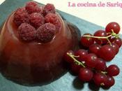 Fresco, ligero saludable: gelatina frambuesa