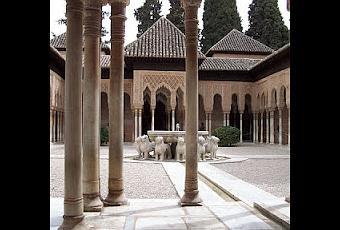 El patio de los leones de la alhambra granada paperblog - Restauradores granada ...