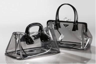 Miuccia Prada  clutch transparente