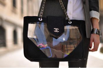 it bag transparente de Chanel