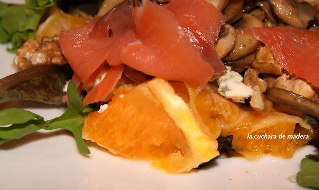 Ensalada con naranja salm n y champi ones paperblog - Salmon con champinones ...