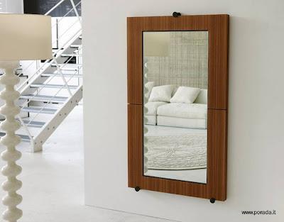 Mesa de madera plegable es espejo de pared paperblog - Fijaciones para espejos ...