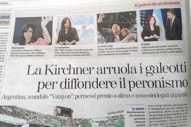 La Nazión busca legitimar su paparruchada a través de un medio italiano