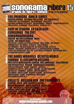 Horarios Sonorama 2012