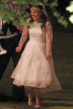 Natalie Portman se casó vestida de Rodarte
