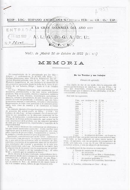 Masones Asturianos en Madrid  (III)