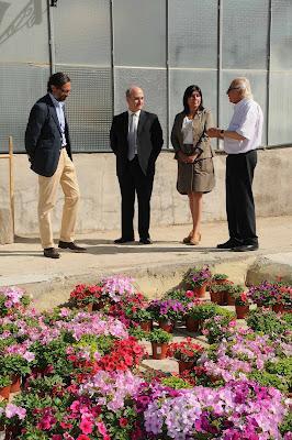 El Viceconsejero de Empleo, Jesús Valverde, y el Director General de Empleo, José Luis Moreno, visitan el Centro Especial de Empleo La Veguilla.