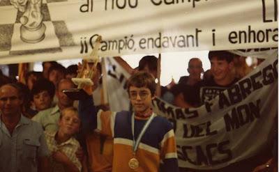 Lluis Comas, Campeón del Mundo de Ajedrez Infantil en 1984