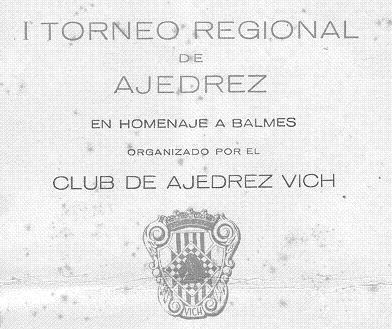 Cartel del Torneo Regional de Ajedrez de Vic 1940