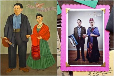 Frida Kahlo Inspired invitation