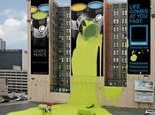 anuncios creativos grande edificios