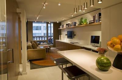 Apartamentos pequenos y minimalistas paperblog for Decoracion de departamentos minimalistas