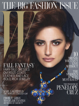 Penélope Cruz, muy pecosa en portada de W Magazine