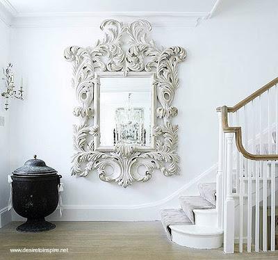 Espejo de pared blanco decorativo paperblog for Espejos decorativos blancos