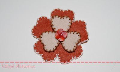 Broche - Flower Power Teja