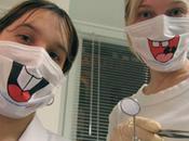 Tapabocas divertidos para dentistas