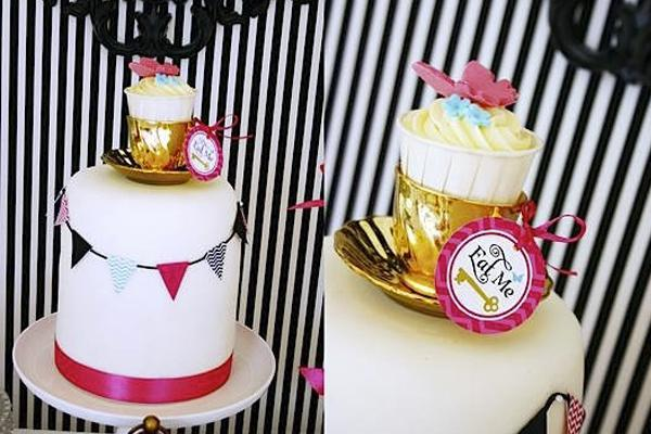 tarta decorada para fiesta de cumpleaños