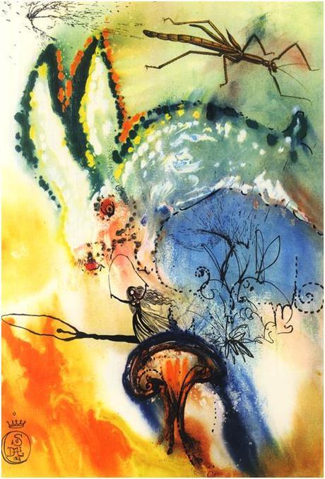 Salvador Dalí - Ilustraciones para Alicia en el País de las Maravillas