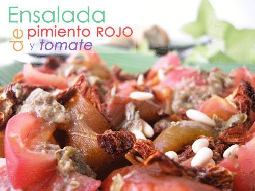 Ensalada de pimiento rojo y tomate