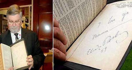 La Biblia de Elvis Presley sale a subasta en Inglaterra