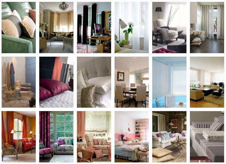 Cortinas clásicas, paneles decorativos, colchas , cojines y hasta