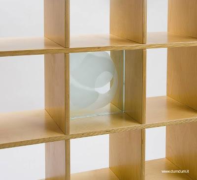 Moderna estanter a cuadrada de madera paperblog - Estanterias modulares de madera ...