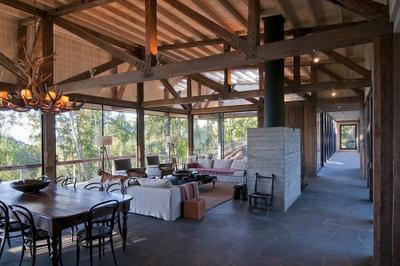 Rustica y moderna en chile paperblog for Texas ranch piani casa con portici