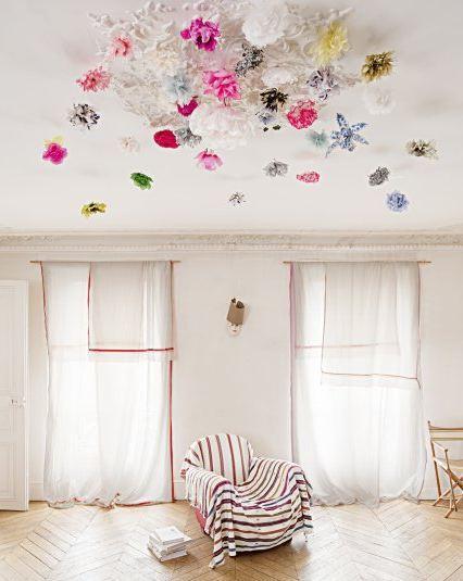 Декор потолка своими руками и