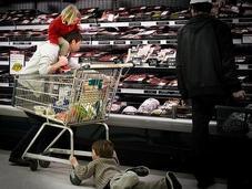 Pánico supermercado
