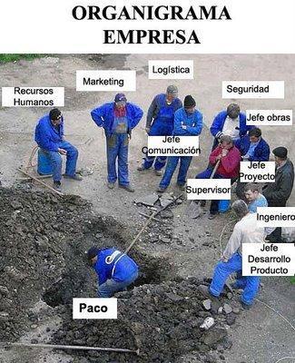 Organigrama de una empresa #humor