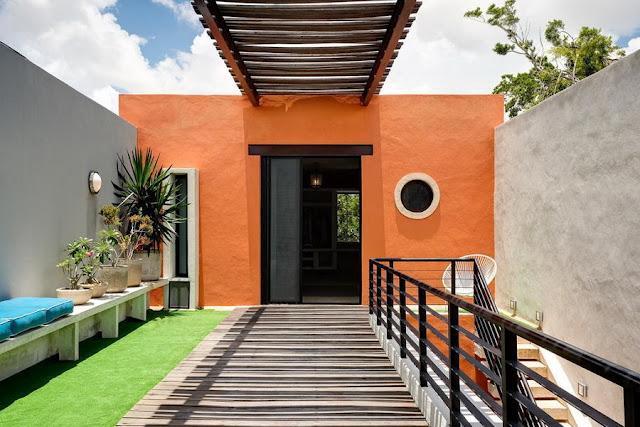 Naranja y turquesa paperblog - Colores de fachadas de casas rusticas ...