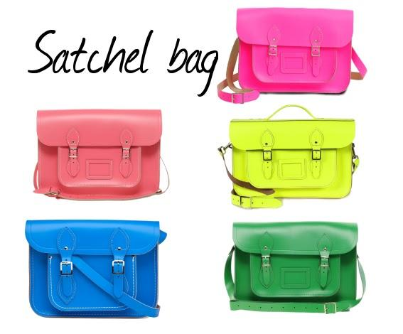 Tendencias 2012: Los bolsos Cambridge Satchel flúor
